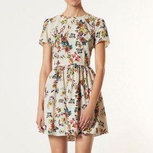 TOPSHOP Florance Sampler Faux Cross stitch Dress
